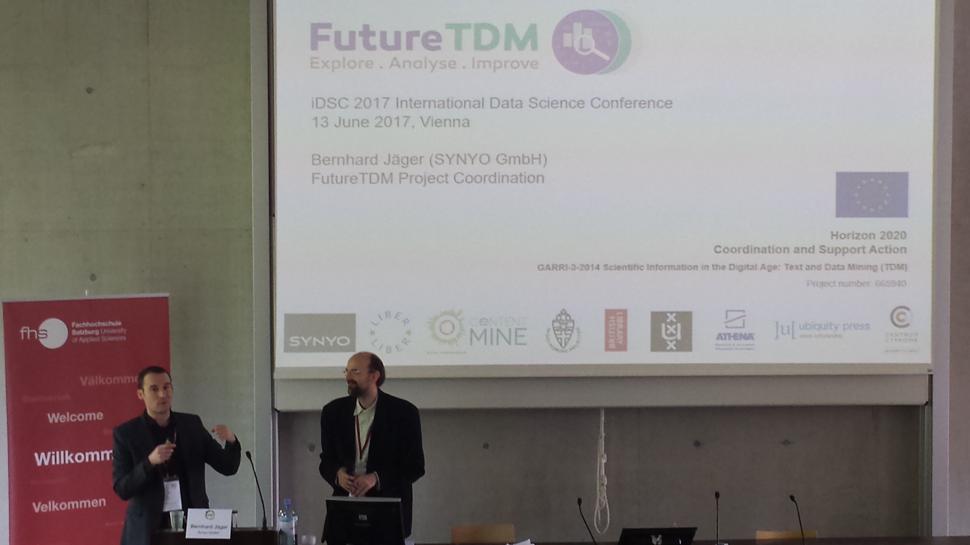 Keynote speech of Bernhard Jaeger, giving an introduction of FutureTDM Project