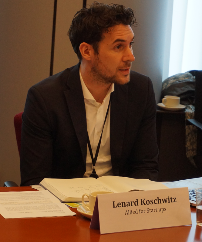 Lenard Koschwitz, Director European Affairs at Allied for Startups